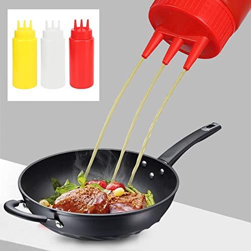 Emoshayoga Condimentar la Botella, Exprimir la Botella de Cocina Botella de Salsas Antideslizante para Restaurante