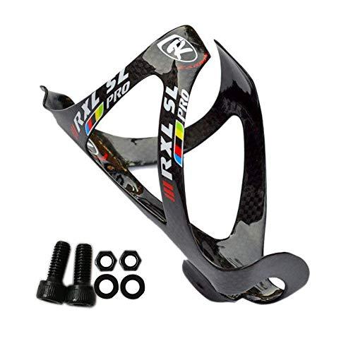 RXL SL Fibra Piena del Carbonio Porta-Borraccia Bottiglia Gabbia in Carbonio per Bicicletta MTB Nero 3K Lucido