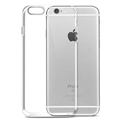 Wlife Hülle Kompatibel iPhone 6, Hülle Kompatibel iPhone 6s, Ultra Dünn Transparent Weiche Silikon TPU Handyhülle, Anti-Fingerabdruck, Anti-Kratz Schutzhülle, Clear Case Cover