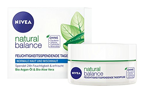 Nivea Natural Balance Feuchtigkeitsspendende Tagespflege, 1er Pack (1 x 50 ml)