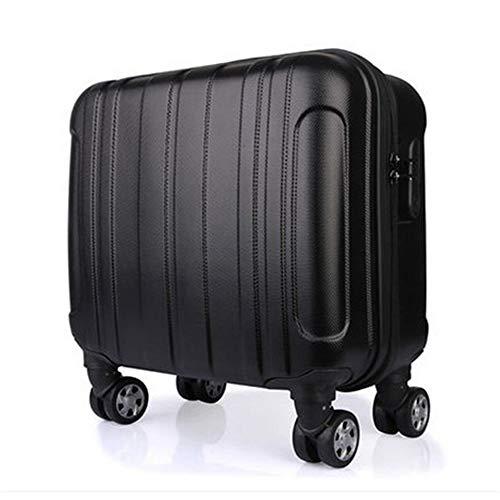 Trolley Case 16 Inch ABS Trolley Case Universal Wheel Aviation Trolley Case Stewardess Boarding Travel Luggage Trolley Case,Black