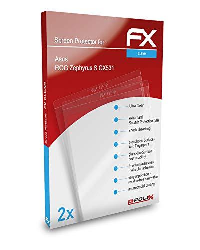 atFolix Schutzfolie kompatibel mit Asus ROG Zephyrus S GX531 Folie, ultraklare FX Bildschirmschutzfolie (2X)