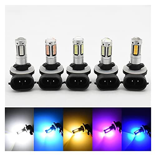 MEILIJIE XIAOXU MIN 2X H27 881 Bombilla LED para Coches H27W / 2 H27W2 Luz de Niebla automática DRL 780 LM 1 2V 881 LED Bulbos conduciendo Durante el día de la luz de Funcionamiento