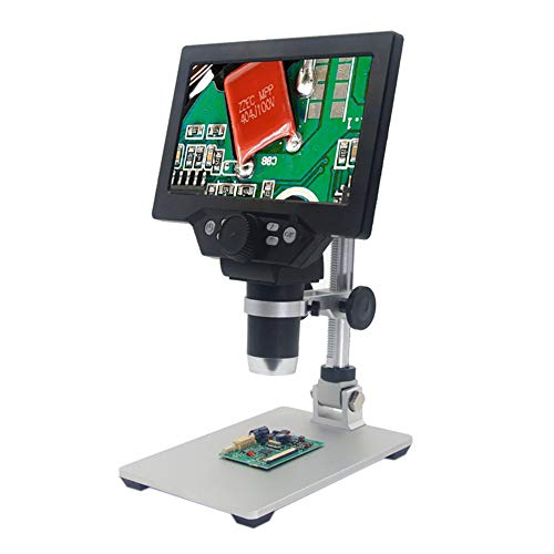 Wishiot 1-1200X G1200 Electronic Video Microscope 7inch HD LCD Display 12MP Magnifier PCB BGA SMT Soldering Digital Microscope US Version