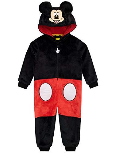 Disney Pijama Entera para niños Mickey Mouse Negro 5-6 Años