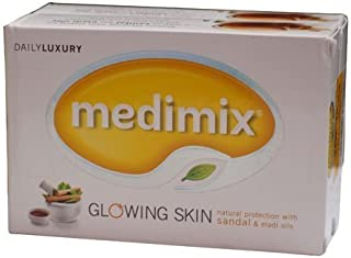 Medimix Glowing Skin natural protection with SANDAL & ELADI Oils (125 GM X 2 Bars) by Medimix