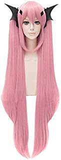 Seraph Of The End Krul Tepes Hair Cosplay Wig Costume Long Straight Pink + Cap