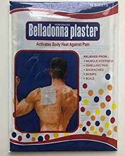 Mehta Belladonna Perforated Herbal Plaster - 10 Sheets Size 11.2 X 16.5 cm