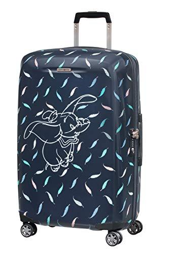 Samsonite Disney Forever - Spinner M Valigia, 69 cm, 67 L, Blu (Dumbo Feathers)