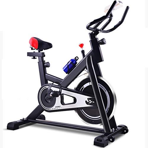 LJMG Spin Bike Attrezzatura per Il Fitness Muto al Coperto Pedale Bici Palestra Bicicletta Multifunzionale Home Cyclette Bicicletta da Spinning Indoor (Color : Black, Size : 109 * 70 * 101cm)