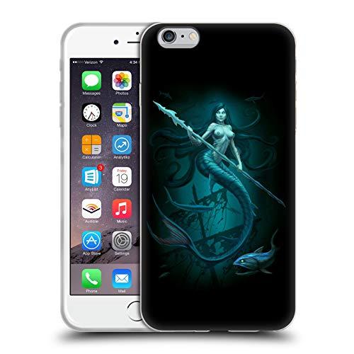 Head Case Designs Licenza Ufficiale Christos Karapanos Sirena Ore Buie Cover in Morbido Gel Compatibile con Apple iPhone 6 Plus/iPhone 6s Plus