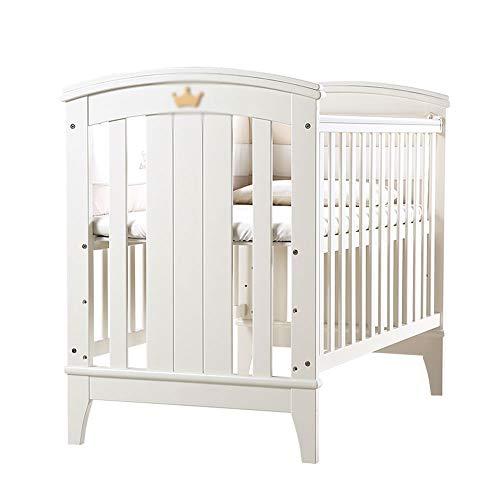 Lit d'enfant, lit de Couture Nouveau-né en Bois Massif Blanc lit d'environnement Multi-Fonctionnel pour bébé (106 * 63CM)