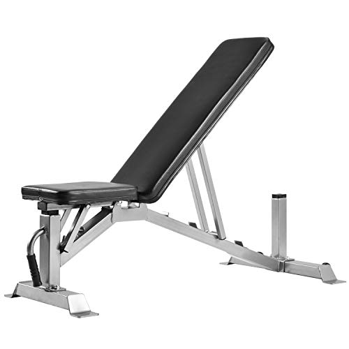 Knocbel Adjustable Weight Bench, 5 Positions Incline Decline Utility Gym Equipment for Full Body Workout, 800 LBS Capacity, 50