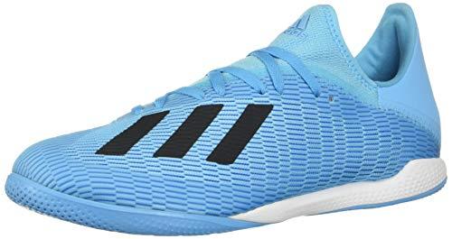 Zapatillas de fútbol Adidas X 19.3 para hombre, Azul (Cian brillante/Negro/Rosa choque), 40.5 EU
