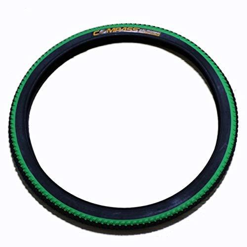 HAOKAN Cinturón de hierro para bicicleta a prueba de clavos, neumático plegable 201.95 (color: blanco) (color: verde)