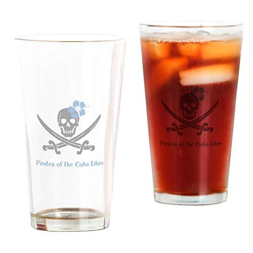 CafePress Pint-Glas Pirates of The Cuba Libre durchsichtig