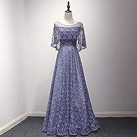 ドレス パーティードレス ロングドレス ロング フォーマル リボン Aライン マーメイド レディース aruka_harlaut L パープル