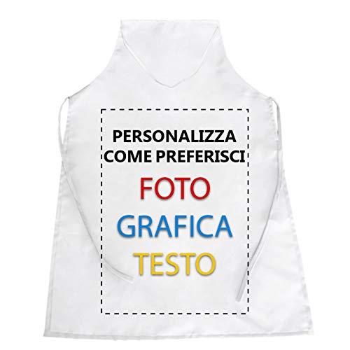 CHEMAGLIETTE! Grembiule Personalizzato 100% Poliestere Casacca da Cucina Personalizzabile Custom Disegna Il Tuo