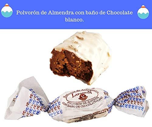 LAPASION - Exquisito Polvorón de Almendra bañado en chocolate blanco. caja 3.5Kg