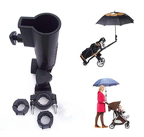 Muttify Universal Schirmhalter, 15mm 25mm 30mm 38mm Optional Griff Anschluss Größen für Golf Cart, Bike, Baby Buggy , Angeln Strand Stuhl, Rollstuhl mit Frames Größe: Rund 15mm–58mm