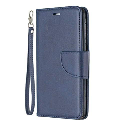 Bear Village® Hülle für Huawei Honor 6C, PU Premium Leder Flip Handyhülle, Schutzhülle mit Ständer Funktion und Card Holder, Blau