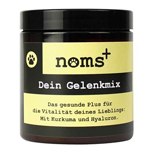noms+ Natürliches Gelenkpulver Für Hunde - mit Glucosamin, Teufelskralle, Hyaluron, Mangan und Kurkuma - Made in Germany - Ergänzungsfuttermittel zur Unterstützung der Gelenke - 125g