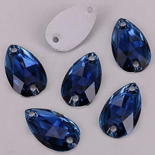 100 unids/lote, 7 x 12 mm, 10 x 14 mm, 10 x 18 mm, 17 x 28 mm, colores de lágrima de resina con parte trasera plana para coser piedras