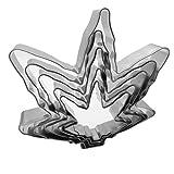 Amestar Marijuana Leaf Cookie Cutter Set of 5 Pack...