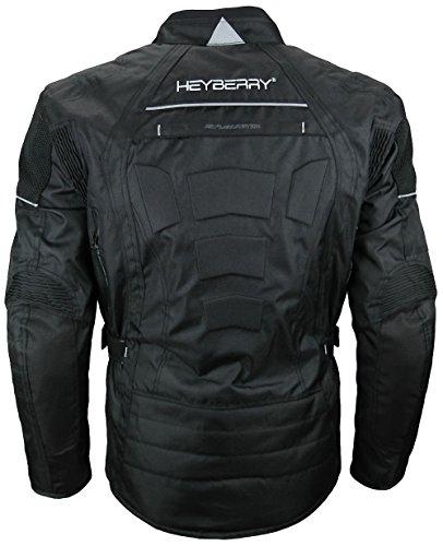 Herren Touren Motorradjacke Textil Heyberry schwarz Gr. L - 5