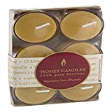 Honey Candles Pure Beeswax Tealight/Clear Cup 6 Pack, 6 CT, 6 Piece