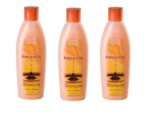Swiss-O-Par Arganöl Shampoo 3x 250ml, für trockenes und glanzloses Haar