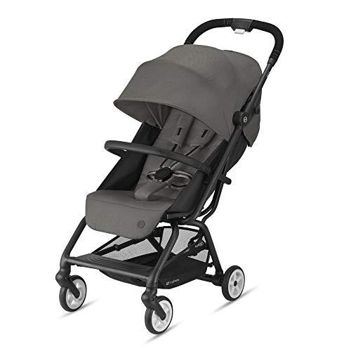 Cybex Gold Eezy S 2 Kinderwagen, Einhand-Faltmechanismus, Leichtgewicht, Ab Geburt bis 22 kg (ca. 4 Jahre), Soho Grey mit schwarzem Gestell, 520001595