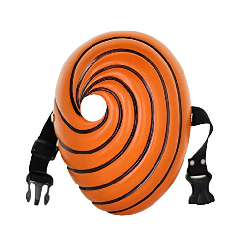 youngfate Naruto Halloween Maske Kreative Japanische Naruto Cartoon Maske Tobi Obito Naruto Maskerade Cosplay Vollgesichtsmaske Party for Halloween Party Costumes Cosplay