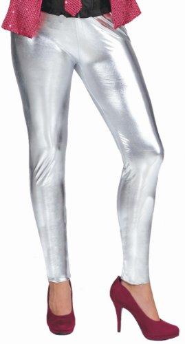 silberne Leggings, Erwachsenen-Größe:L/XL (40/42)