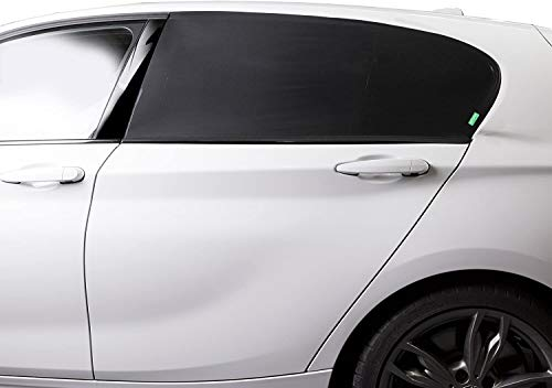Venture High Density Car Window Shades | Provides Maximum UVA UVB Protection | Covers Side Rear Window | 2 x Premium Quality Stretch Material Car Sun Shade