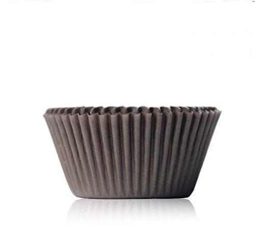 AsentechUK® Lot de 100 moules à muffins en papier résistant à l'huile pour gâteau au chocolat (café)