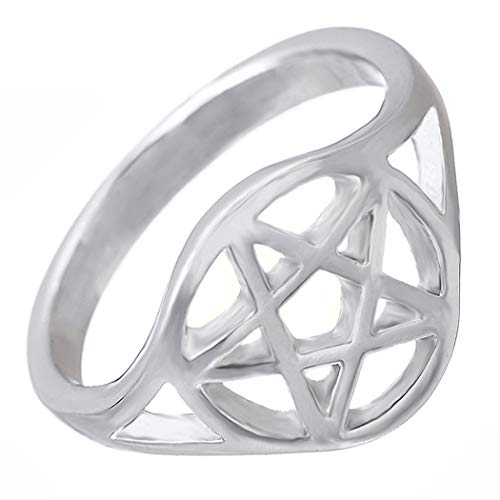 My Shape Wiccan Pentacle - Anillo Pentagrama Hombre