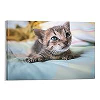 猫のキャンバスアートポスター装飾絵画壁アート写真家の寝室の装飾アートワーク08×12インチ(20×30cm)