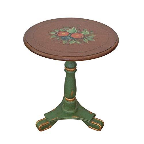 WGEMXC Home Stehtisch, Grüner Beistelltisch Kleiner Runder Tisch Telefontisch Gemalter Massivholz Couchtisch, Praktischer Schreibtisch