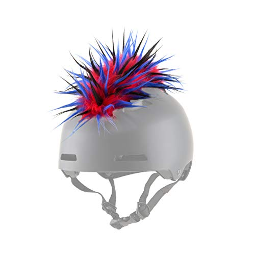 ParaWild Iguana Helmet Accessories w/Sticky Hook & Loop Fastener Adhesive (Helmet not Included), Fun Helmet Mohawk/Cover for Snowboarding, Skiing, Biking, Cycling, Skating for Kids and Adults