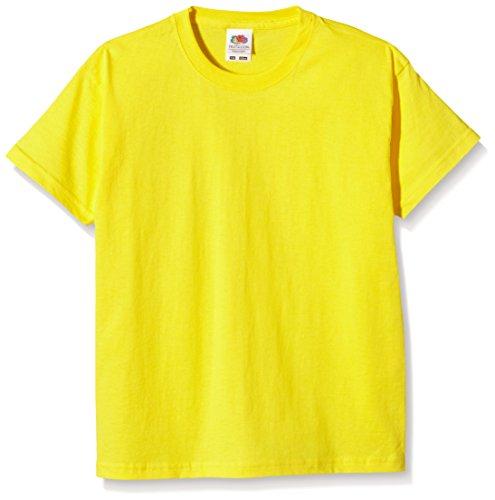 Fruit of the Loom Ss028b Camiseta, Amarillo, 5-6 Años para Niñas