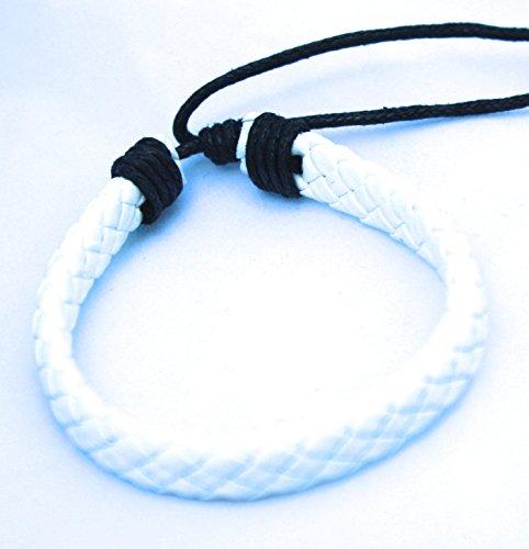 White Leather Diffuser Bracelet/ Pure Essence Diffuser Bracelet/ Aroma Bracelet for Him or Her/ Friends Bracelets