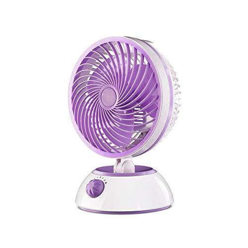 Chihen elektrische tafelventilator, mini-draagbare kleine ventilator met 2 snelheden, die het hoofd schudt, stille draaiende grote wind, kantoor/bed/familie