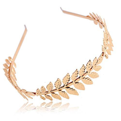 DSJ Bandeaux à cheveux rétro pour femme en métal doré