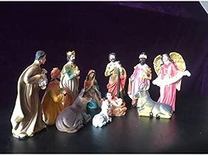 JWWOZ Nativity Scenes 12.8 cm 11 Boutique Christmas Manger Group Child Jesus Our Lady Decoration