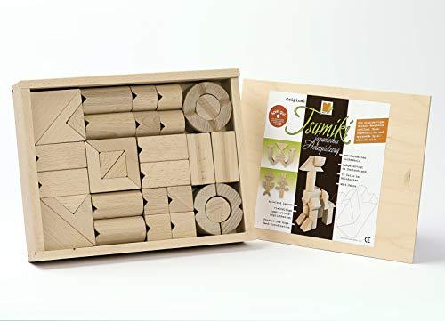 Tsumiki Holzbaukasten, 34 Teile zum Stabeln,