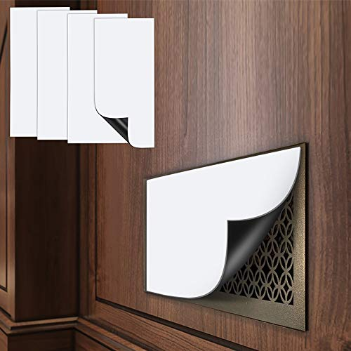 Aozzy 4 Pack Magnetic Vent Cover 8'x15' 2mm Extra Thick Cut to Any Size Perfect for Vent Covers for Home HVAC, Air Vent Covers for Floor Register, Walls, RV, Ceiling, AC and Furnace Vents (8'x15')