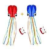 SINGARE Large Octopus Kite Long Tail Beautiful Easy Flyer Kites Beach...