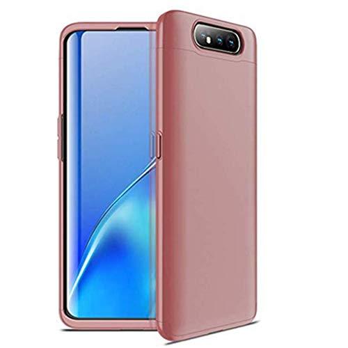 Kompatibel mit Samsung Galaxy A80 Hülle, Samsung A80 Handyhülle Hart Tasche Slim 3 in 1 Anti-Rutsch Schutz Anti-Fingerabdruck Hülle (Pink, Galaxy A80)