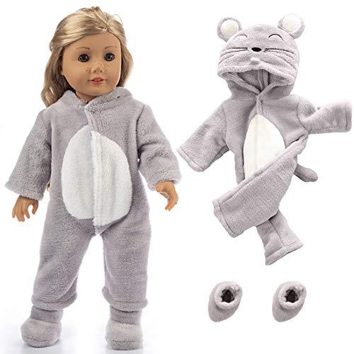 American Girl Dolls Jumpsuit Sets Doll Clothes Schnittmuster mit Schuhen, Nachtwäsche, Our Generation Journey Mädchen Puppe-Kind-Geschenk